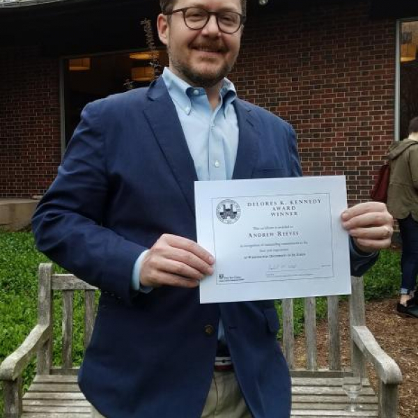 Prof. Andrew Reeves Wins Delores K. Kennedy Award